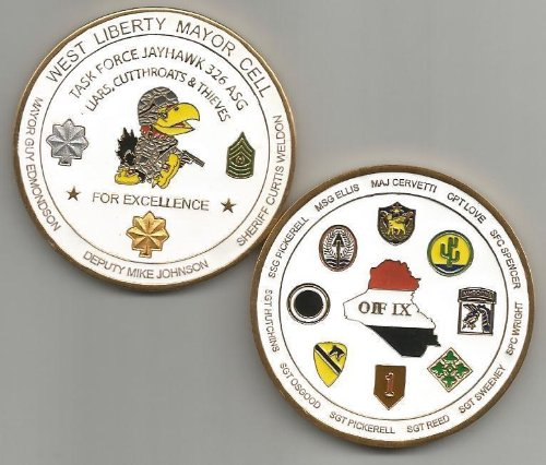 US Army Camp West Liberty Mayor Cell Operation Iraqi Freedom Coin
