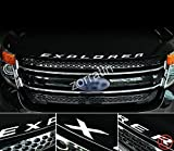 zorratin クロム光沢金属製フォード エクスプローラー エンブレム for Ford Explorer 2011-2016