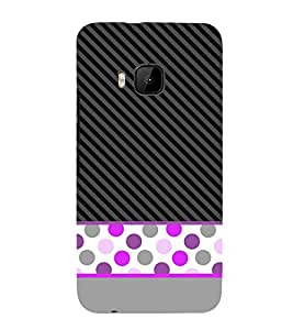 Dotted Fashion Lines 3D Hard Polycarbonate Designer Back Case Cover for HTC One M9 :: HTC M9 :: HTC One Hima