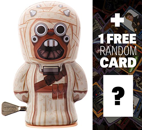 "Tusken Raider: ~4"" BeBots x Star Wars Tin Wind-Up Figure + 1 FREE Official Star Wars Trading Card Bundle"