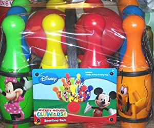 Amazon Com Disney Mickey Mouse Clubhouse Bowling Set