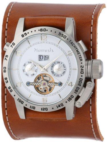 Nemesis Caballero BGSB070S Mechanical Heavy Duty Brown AutoMech Leather Band Reloj