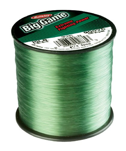 Berkley Trilene Big Game Monofilament Custom Spool(15-Pound,Green)