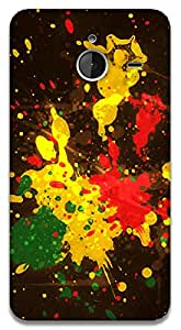 The Racoon Lean Rasta Splash hard plastic printed back case / cover for Microsoft Lumia 640 XL