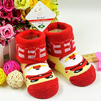 ADAALEN Baby Kleinkind Mädchen Schöne Weihnachten Cartoon Santa Reindeer Cotton Soft Socks von ADAALEN bei Gartenmöbel von Du und Dein Garten