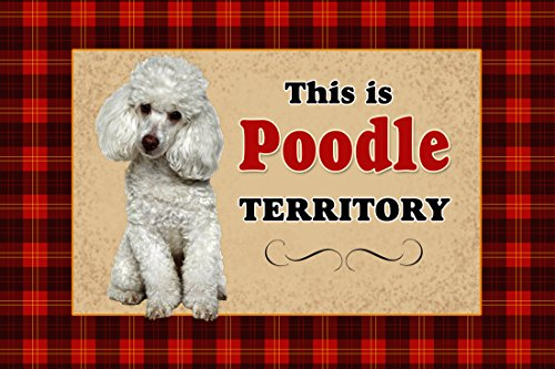 Novelty Dog Territory Mat, 18 by 27-Inch, Poodle