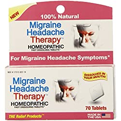 The Relief Products Migraine Headache Therapy Fast Dissolving Tablets, 70 Count