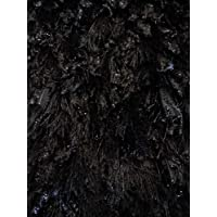 Handmade Decorative Shag Rug 5 Ft. 4 In. X 7 Ft. 4 In. Black