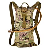 CVLIFE Hydration Pack with 3L Backpack Water Bladder for Hunting Climbing Running and Hiking (CP)