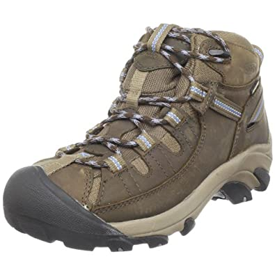 Keen Women's Targhee II Mid Waterproof Hiking Boot,Slate Black/Flint Stone,5 M US