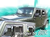 wind deflectors JEEP WRANGLER 5doors from year 2007 4parts   year wrangler wind jeep from deflectors 5doors 4parts 2007
