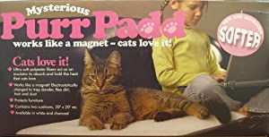 Mysterious Purr Padd Cat Cushion, Charcoal