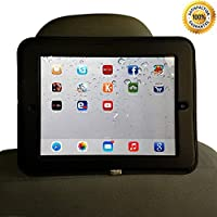 Ipad Car Mount Headrest Mount Holder for Car- Ipad 2/3/4 Case Tablet Cover- Ipad Velcro Holds Securely- Perfect for Entertainment and Long Trips, Your Kids and Back Seat Passengers Can Watch Movies While Your Travel Black - 100% Money Back Guarantee from