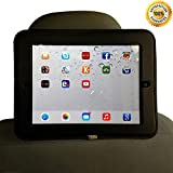 Yozzy Ipad Car Mount Headrest Mount Holder for Backseat Car- Fits Apple Ipad 2/3/4 Case Tablet Cover- Ipad Velcro Holds Securely- Perfect for Entertainment and Long Trips- Black