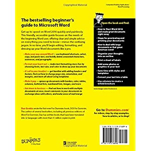 Word 2016 For Dummies (Wo Livre en Ligne - Telecharger Ebook