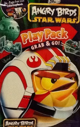 Play Pack Grab & Go! Mini Set~ Angry Birds Star Wars ~ Flying Force ~ Crayons ~ Stickers ~ Coloring Book