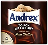 Andrex 4 Roll Shea Butter Toilet Tissue 160 Sheets (Pack of 10, Total 40 Rolls)
