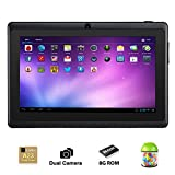 Alldaymall® 7 Inch Android 4.4 KitKat Tablet PC MID with Capacitive Touchscreen (512MB + 8G, Dual Core CPU, 1.5GHz... by Alldaymall