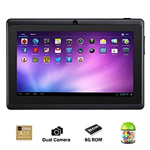 Alldaymall® 7 Inch Android 4.2 Tablet PC MID with Capacitive Touchscreen (512MB + 8G, Dual Core CPU, 1.5GHz, Wi-Fi, Dual Camera) Black