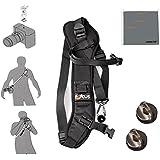 Fomito Focus F-1 Quick Rapid Shoulder Sling Belt Neck Strap & 2pcs Screw Mount For Camera DSLR SLR DV Black