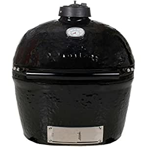 Primo 774 Ceramic Charcoal Smoker Grill, Oval Junior