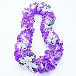 Premium Hawaiian Luau Party Lei - Paradise Petunia w/ Orchids