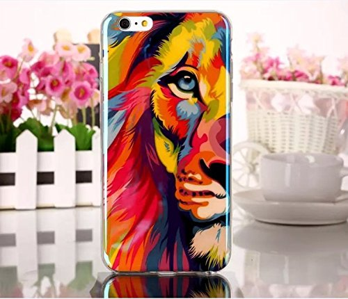 Fashioncase Fashion Lion Custodia Case Protettiva Cover per iPhone 6 4.7 -Stile 6