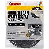 Frost King R734H Sponge Rubber Foam Tape 7/16-Inch, Black
