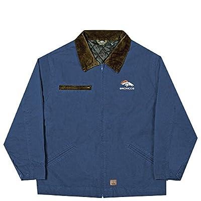 NFL Denver Broncos Tradesman Canvas Quilt Lined Jacket, Navy, Medium