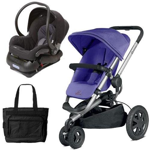 quinny buzz xtra travel system in purple with diaper bag all travel bag. Black Bedroom Furniture Sets. Home Design Ideas