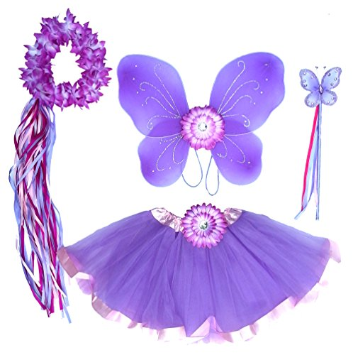 5-PC-Girls-Lavender-and-Pink-Fairy-Set-with-Wings-Wand-Halo-and-Flower-Clip-Age-2-7