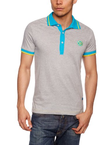 Drunknmunky Wideboy Polo Shirt Men's T-Shirt Monument Grey Small