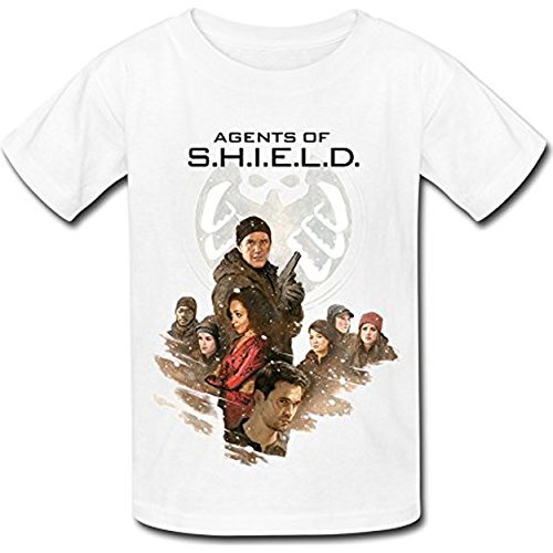 JSZ-FUll Kid's Agents Of S.H.I.E.L.D. Season 3 T-shirt White