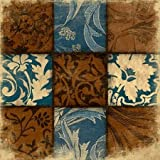 9 Patch BLUEBROWN By Grey, Jace Art Print On Canvas 18x18 Inches