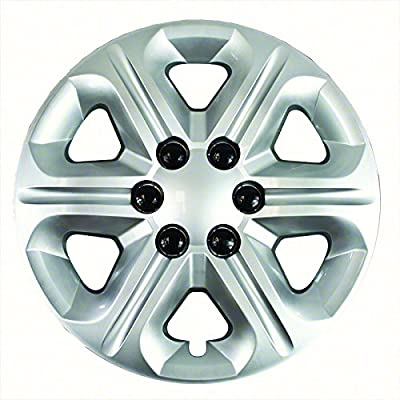 Aftermarket Wheel Covers; 17 Inch; Silver Finish; Abs; 6 Spoke; Lug
