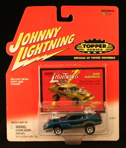 MAD MAVERICK * BLUE * Johnny Lightning 2000 TOPPER SERIES 1:64 Scale Die Cast Vehicle
