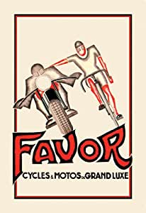 Amazon.com: Favor Cycles and Motos de Grand Luxe 20X30 Paper with