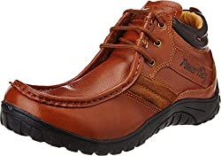 Redchief Mens Glossy Tan Leather Trekking and Hiking Footwear Boots - 6 UK (RC5030 287)