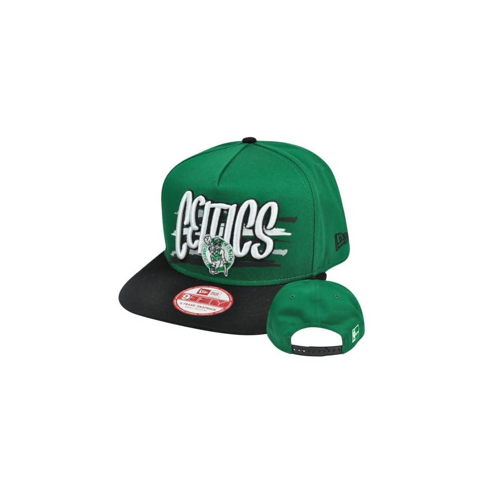 more photos 97eb3 69a5e New Era 9Fifty 950 NBA Boston Celtics NE Pinna Snapback Hat Cap A Frame S