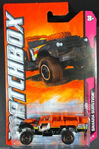 Matchbox Cars - Sahara Survivor Land Rover In Black/Orange - 1