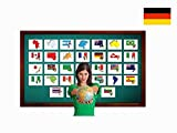 Continents, Countries and Flags Flashcards in German - Länder und Flaggen