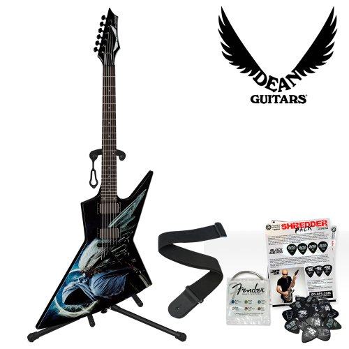 b051f12f027 ... Dean Guitars Dave Mustaine Zero Angel of Deth II (AODII) Electric Guitar  Kit – Includes Guitar Stand
