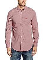 Cortefiel Camisa Hombre Awatti Microvichy Liso T (Rojo)