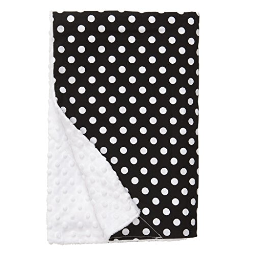 Minky Dot Baby Blankets front-2706