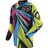 Fox Racing HC Undertow Youth Boys Motocross Motorcycle Jersey - Green/Blue / Medium