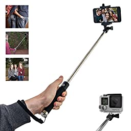 SYPIE Extendable Selfie Stick Pro with Bluetooth | Supports all iPhones including Android and IOS Smartphones