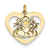 Disney Tigger Heart Pendant in Sterling Silver - Tantalizing - Unisex Adult