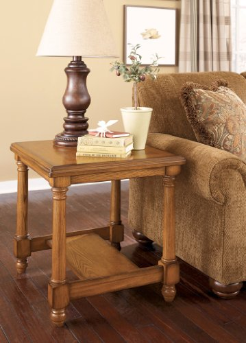 Cheap Traditional Burnished Brown Holfield End Table (T530-3)