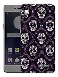 """Humor Gang Hand Drawn Skull Art Printed Designer Mobile Back Cover For """"Oppo R7"""" (3D, Matte, Premium Quality Snap On Case)"""