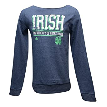 Notre Dame Fighting Irish Adidas Ladies Boatneck Fleece Sweatshirt by adidas